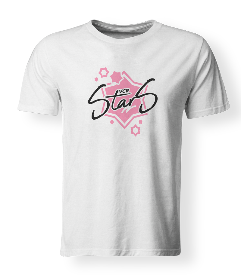 "T-shirt ""VCRstars"" - white"